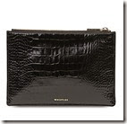 Whistles Croc Embossed Leather Clutch