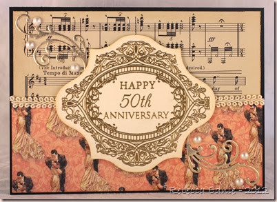 elegant anniversary card snelling