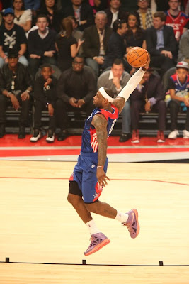 lebron james nba 130217 all star houston 27 game 2013 NBA All Star: LeBron Sets 3 pointer Mark, but West Wins