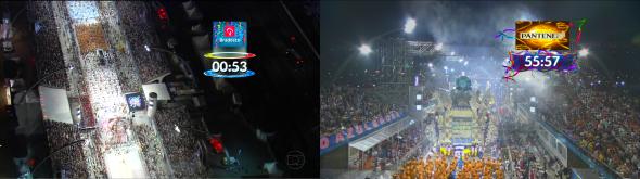 Relógio do tempo de desfile - Foto: Reprodução/TV Globo