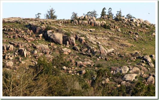 Formaciones rocosas del Cerro de la Palmera