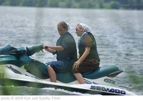 'Old Order Mennonite Women on Jet Skis' photo (c) 2009, Kurt and Sybilla - license: http://creativecommons.org/licenses/by/2.0/