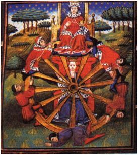 La Rueda de la Fortuna, Troy Book and Story of Thebes,  de John Lydgate, sig. XV