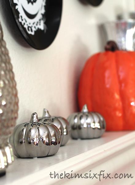 Silver mirror pumpkins