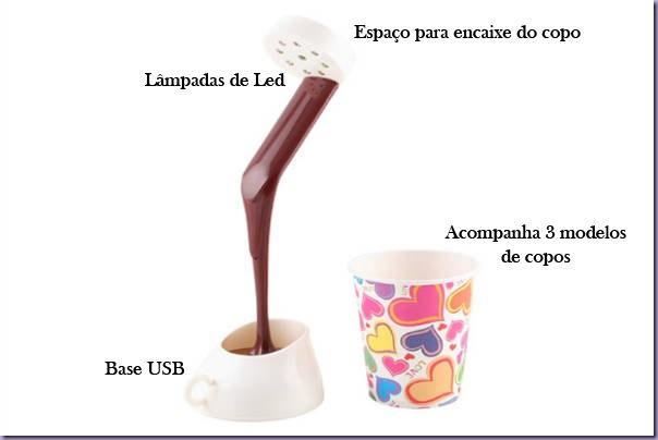 Luminária-Copo-Derramando-Chocolate-Quente
