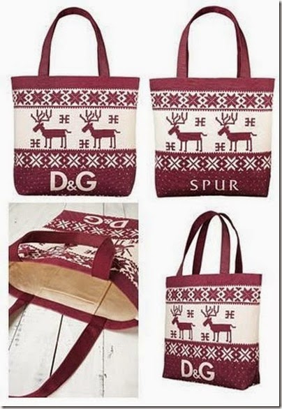 D&G 2010 winter tale tote bag (gift of Dolce Gabbana 2010 Autumn winter e mook) 02