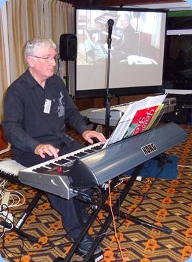 Gordon Sutherland played his Korg Pa3X