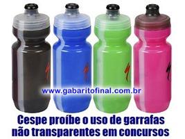 CESPE PROÍBE GARRAFAS COLORIDAS