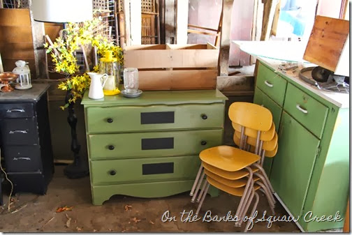 little green dresser