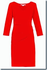 Diane von Furstenberg Red Draped Dress