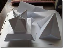 Origami arta hartiei pliate