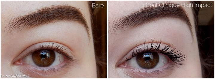 Clinique High Impact Mascara applied