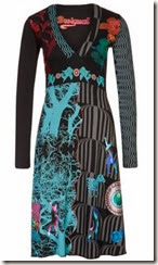 Desigual Black and Blue Print Dress