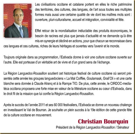 Christian Bourquin L'Estivada 2012