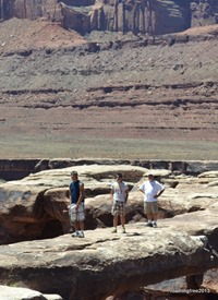 Standing on Musselman Arch - but they don't look like they are in midair!