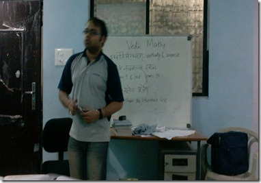 Vishal Gupta Founder Paritraan Vedic Maths session2