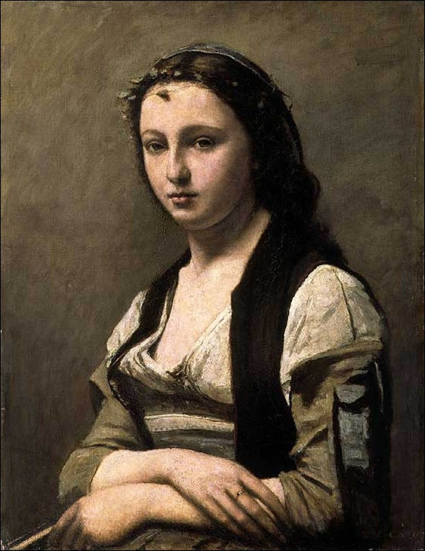 Courbet, Jeune fille avec  perle