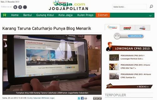 liputan caturharjo.com di harian jogja