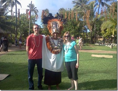 jared and I with tahitian priest