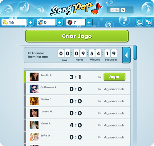 Song Pop no Facebook