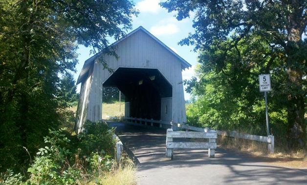 covered bridge on sheep barn road