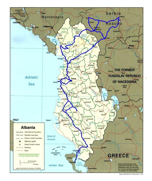 albania route map 6