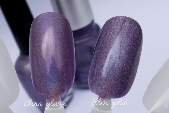 Comparação Ellen Gold- China Glaze - Sombra