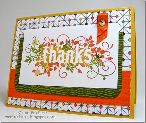 LeAnne Pugliese WeeInklings Seasonally Scattered Stampin Up
