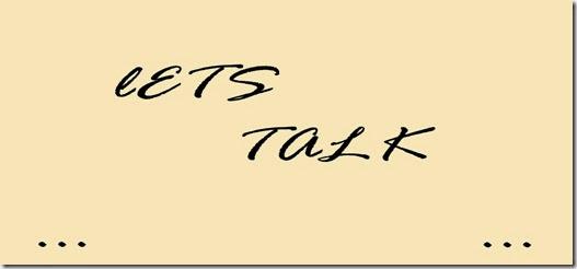 lets talk #1