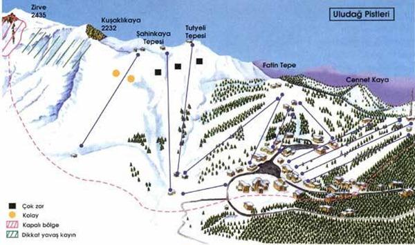 خريطة التزلج علي الجليد
