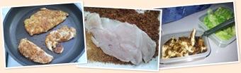 Visualizza pollo panato