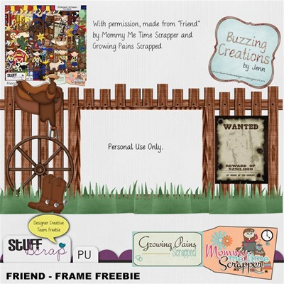 Mommy Me Time Scrapper - Friend - Frame Freebie Preview