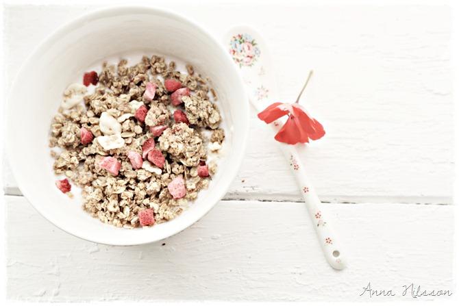 frukost - sommar - med ram