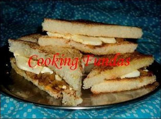 egg veg sandwich