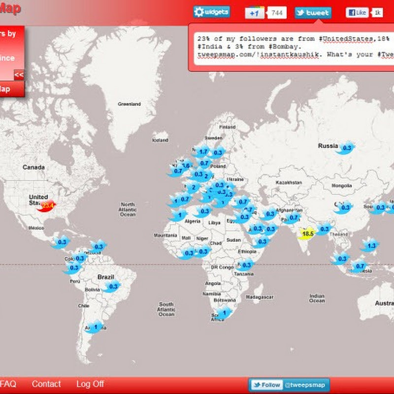 TweepsMap: Where are your Twitter Followers Located?