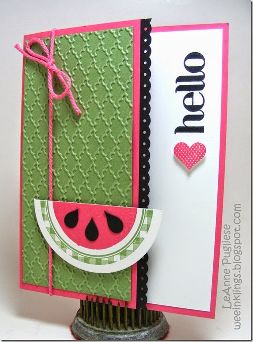 LeAnne Pugliese WeeInklings Kind & Cozy Watermelon Card Stampin Up