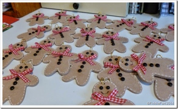 wooden Gingerbread men tags. tree decorations