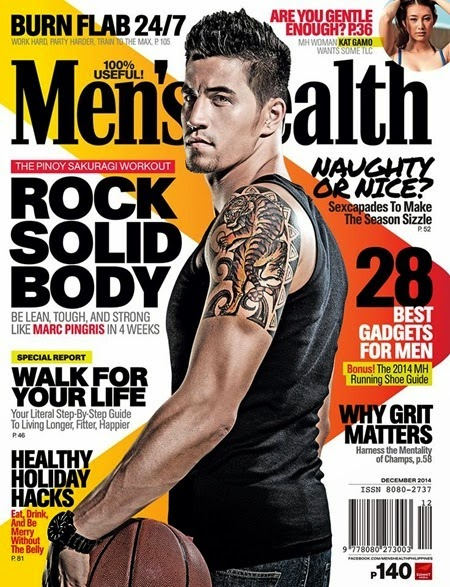 Marc Pingris - Men's Health PH Dec 2014
