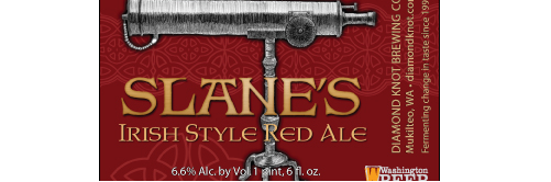 image of Slane's Irish Red courtesy of Diamond Knot Brewery