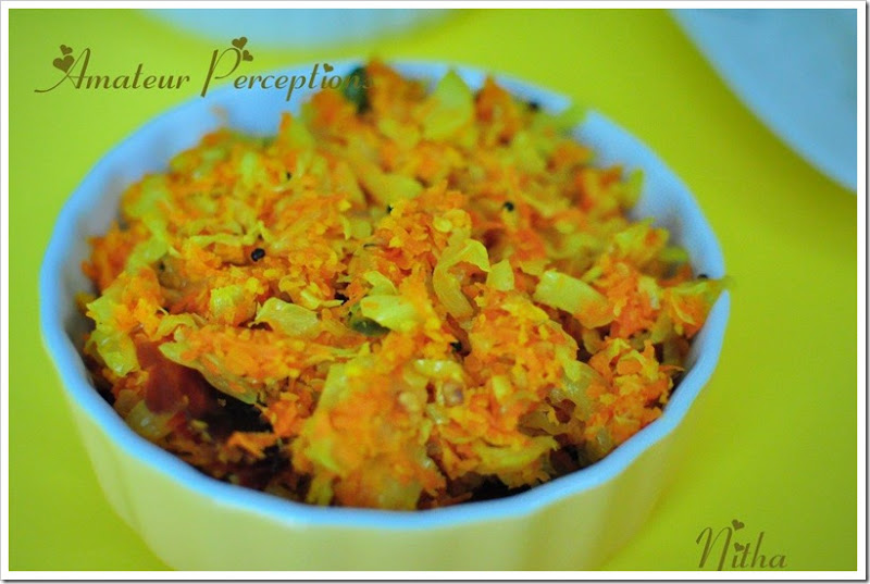 Carrot n Cabbage Thoran 2