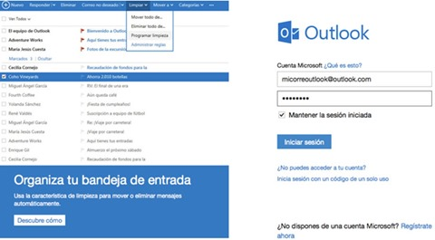 Iniciar sesión en Outlook