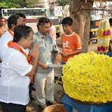 V Somanna & HV Rajeev Campaigning in & around Agrahaara