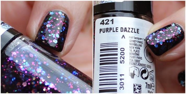 Maybelline Color Show be brilliant LE Swatches Purple Dazzle 07