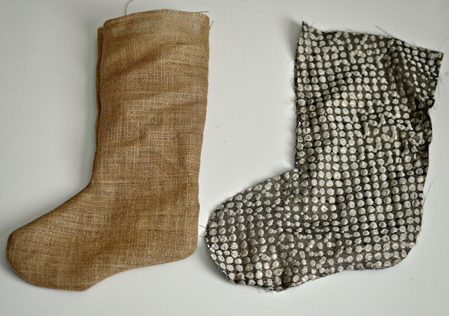 Burlap Stockings Step 4