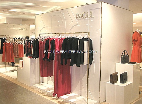 RAOUL PRE-FALL 2012 WOMEN COLLECTION PRINTEMPS HAUSSMANN PARIS SAKS FIFTH AVENUE NEW YORK OPENED  Shalom Mini Saddle bags, Carolyn leather clutches, vibrant colour blocking shoes and stylish buckle accessories maxis, saddle dresses