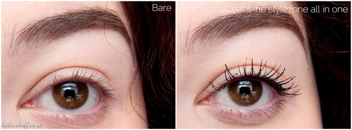 s.he stylezone all in one water resistant Mascara applied