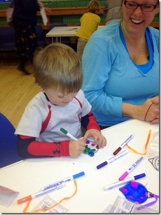 Having fun. Christmas Craft Party at St Paul's Camberley