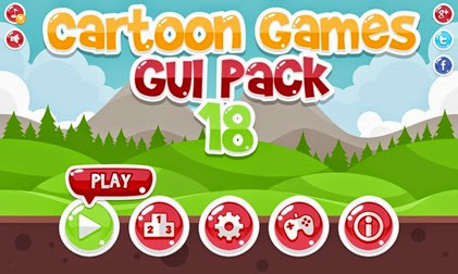 Casual Cartoon Game GUI Pack