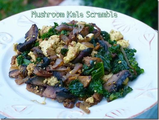 mushroom kale scramble