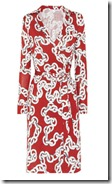 Diane von Furstenberg Red Print Wrap Dress